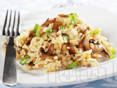 Ризото с гъби печурки и кашкавал - снимка на рецептата